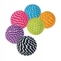 Trixie Piłki kolorowe ze sznurka 4,5cm