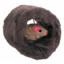 Trixie Walec pluszowy z myszką 8cm
