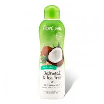 Tropiclean Oatmeal & Tea Tree Medicated Shampoo Szampon kojący skórę i łagodzący podrażnienia 355ml