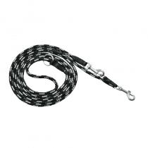 Chaba Smycz linka czarno biała 10mm/120cm