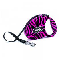 Flexi Smycz Fashion taśma pink zebra 3m/12kg