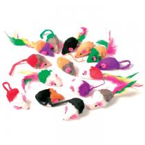 Zolux Zestaw 24 małych myszek z futerkiem i piórkami