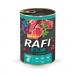 Karmy mokre dla psa - Rafi Junior z borówką i żurawiną 400g x 12