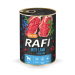 Karmy mokre dla psa - Rafi z borówką i żurawiną 400g x 4